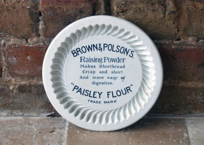 Antique Edwardian brown polson paisley flour royal burslem doulton ironstone shortbread mould