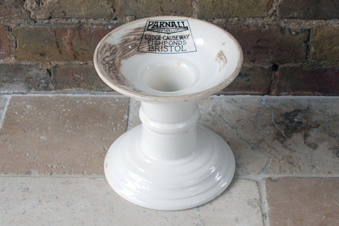 Antique Edwardian white ironstone parnall ham stand