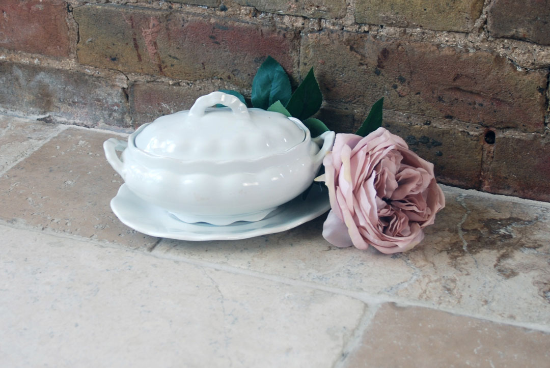 antique victorian furnivals white ironstone 3 piece sauce tureen set