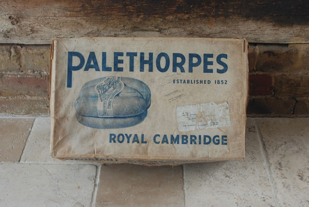 palethorpes royal cambridge sausages vintage transport cardboard box