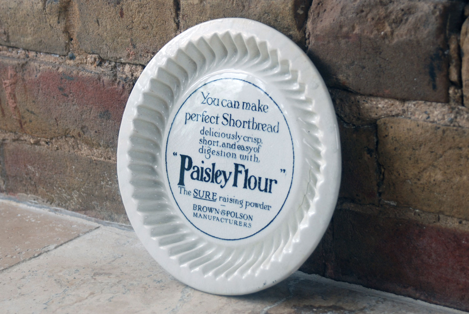 brown polson antique ironstone advertising shortbread mould mold