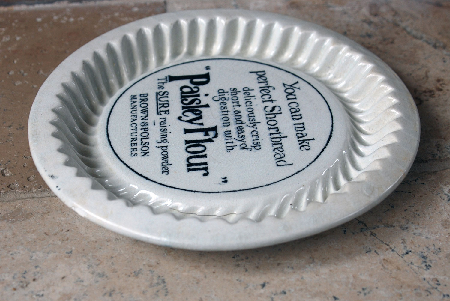 antique white ironstone advertising brown polson mold mould