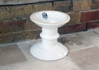 G Rushbrooke antique ham stand white ironstone
