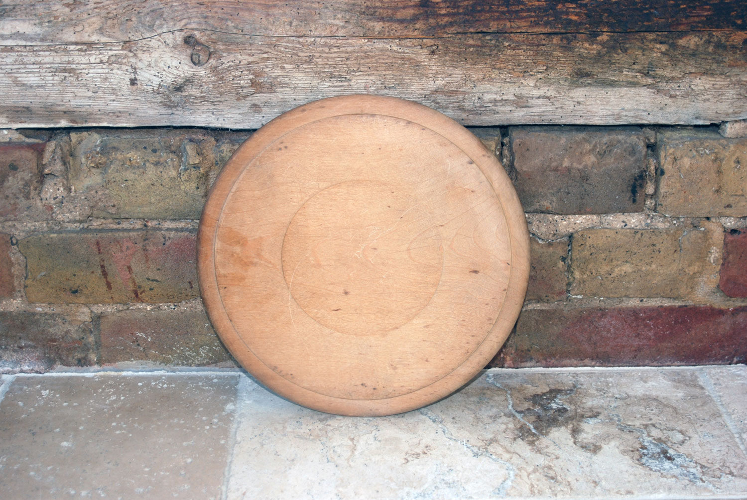 antique victorian carved english sycamore wooden breadboard