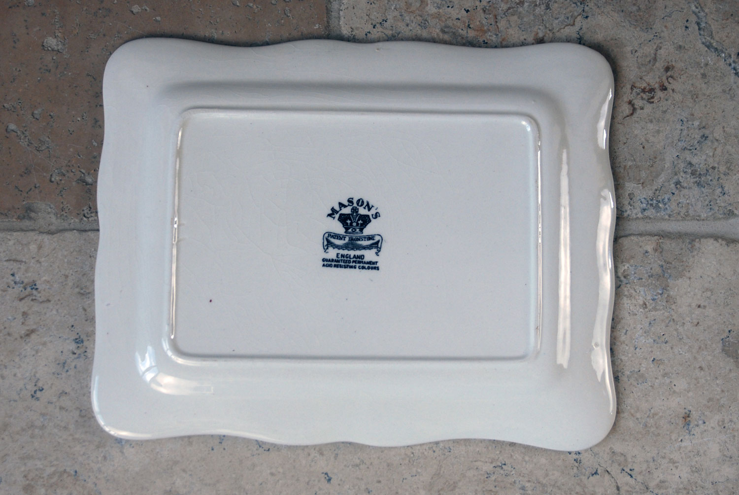 antique masons white ironstone cheese dish cover aesthetic movement black transfer print