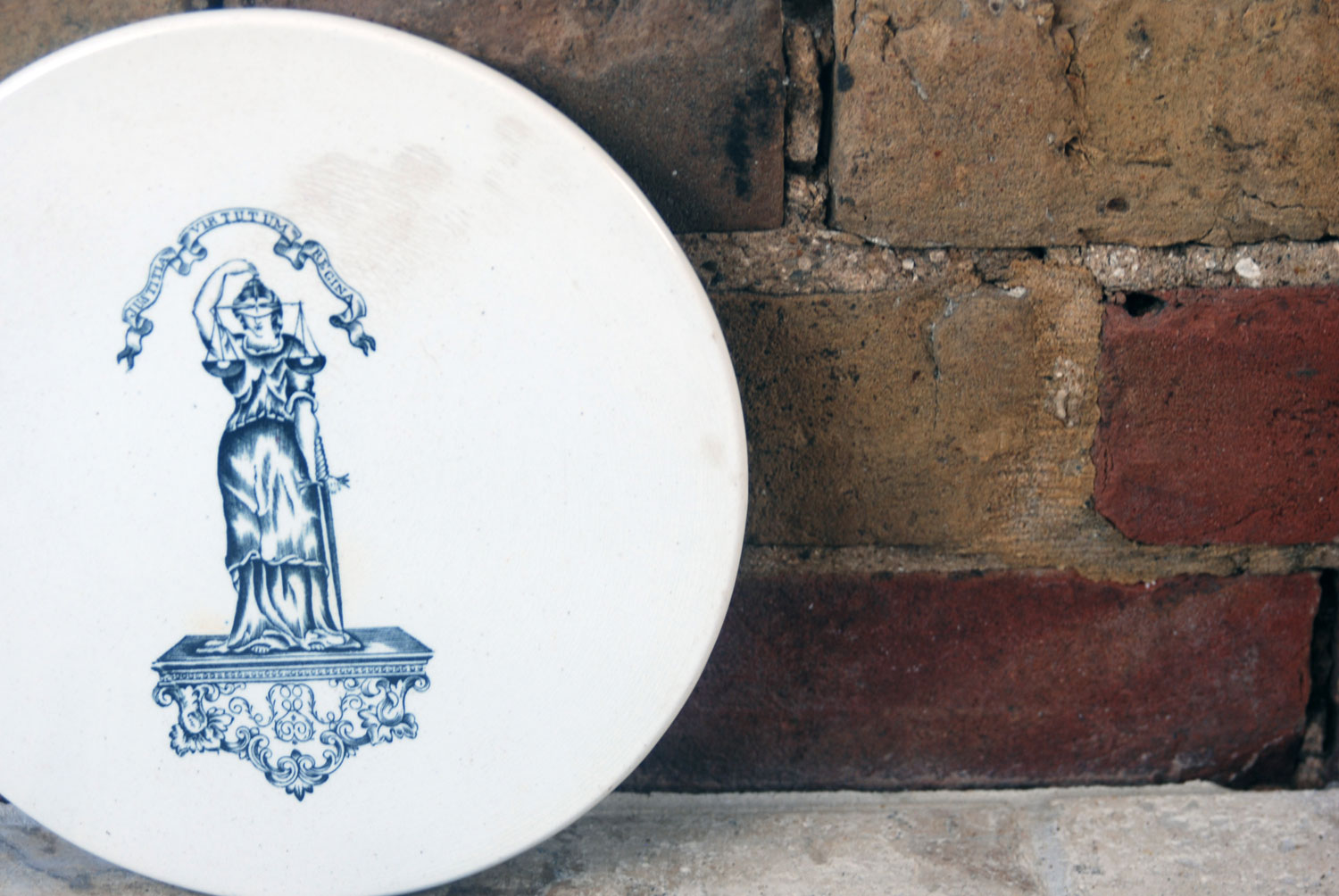 antique edwardian white ironstone scale plate cheeseboard justitia virtutum