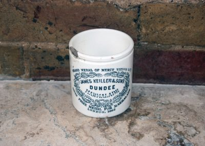 victorian english advertising 1lb james keiller marmalade pot jar white ironstone
