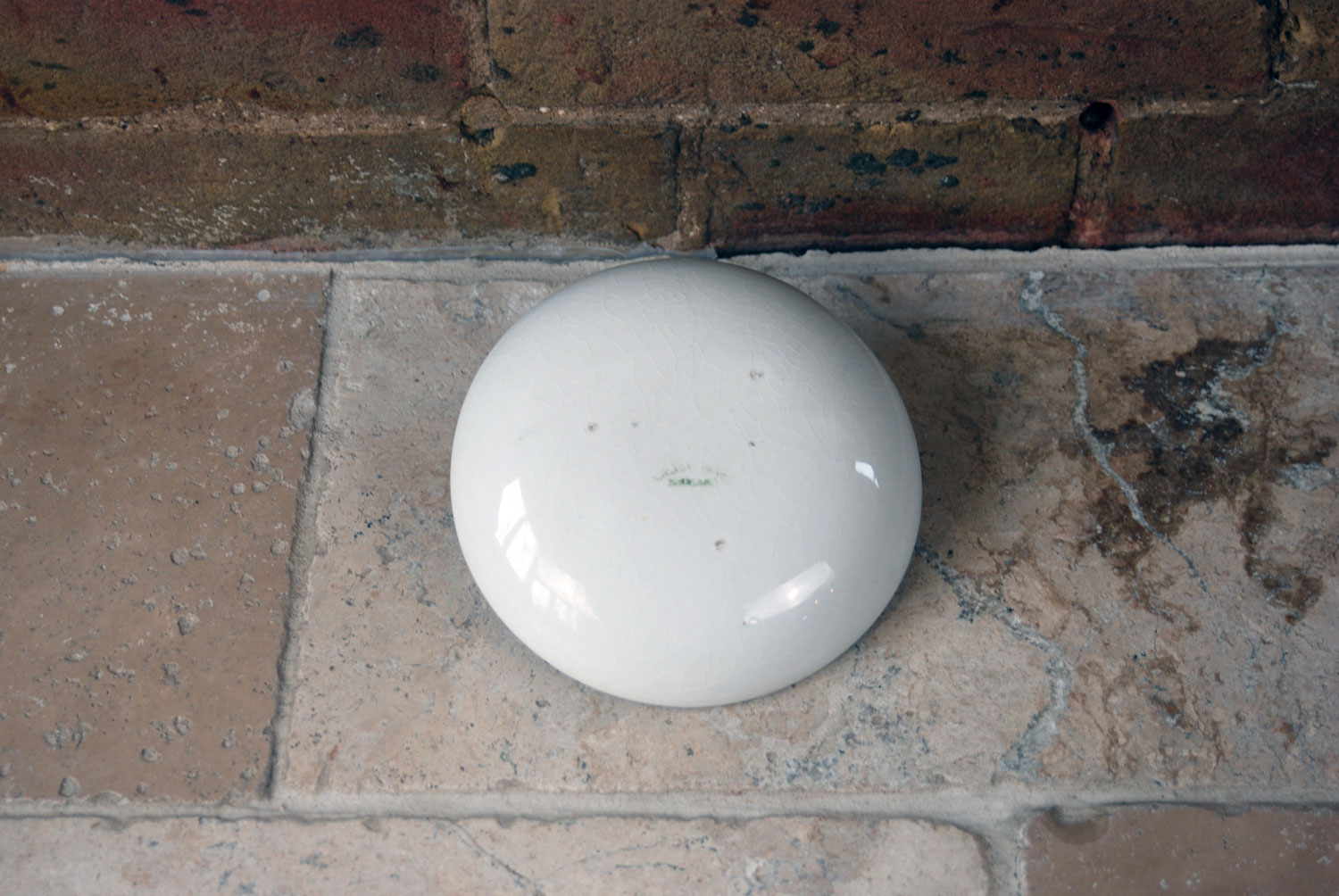 antique early 20th century maling cetem ware ironstone plain whiteware cabbage press collectable kitchenalia