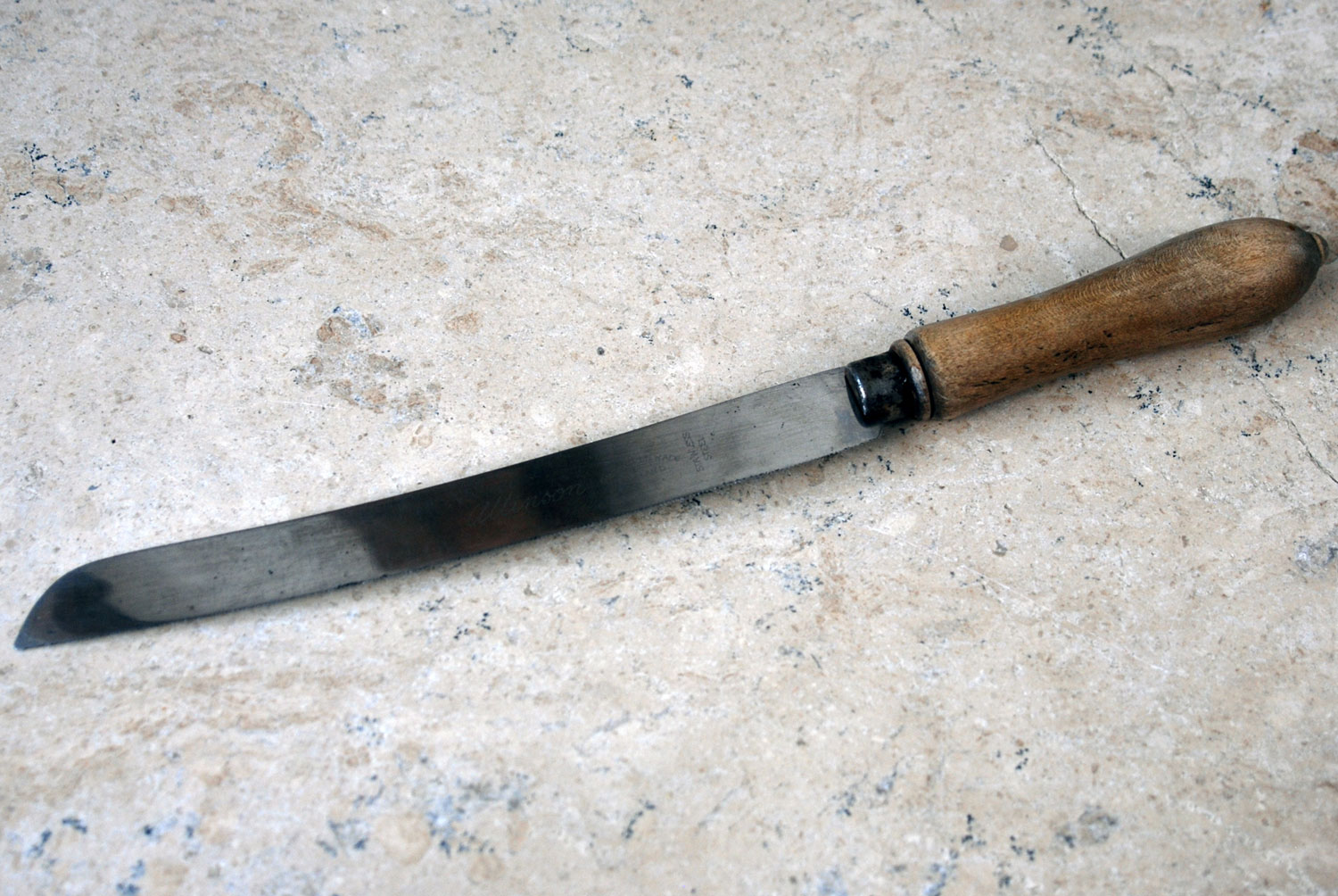 antique vintage 1920s 1930s carved english allinson bread knife treen wooden