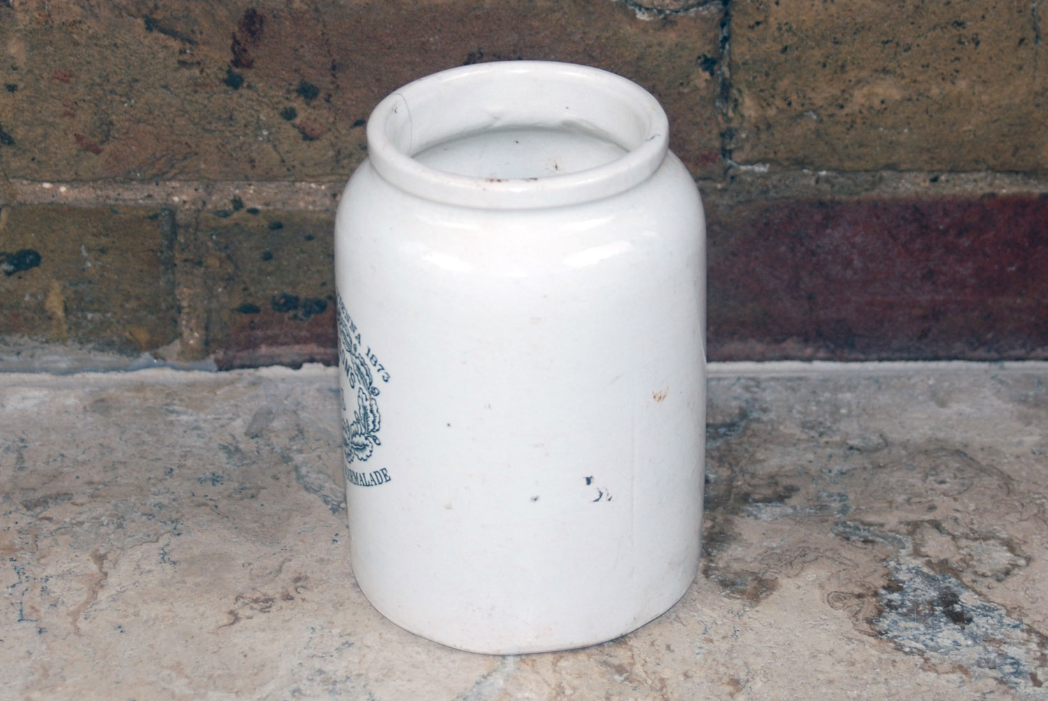 rare james keiller 2 pound collared collar marmalade pot jar white ironstone