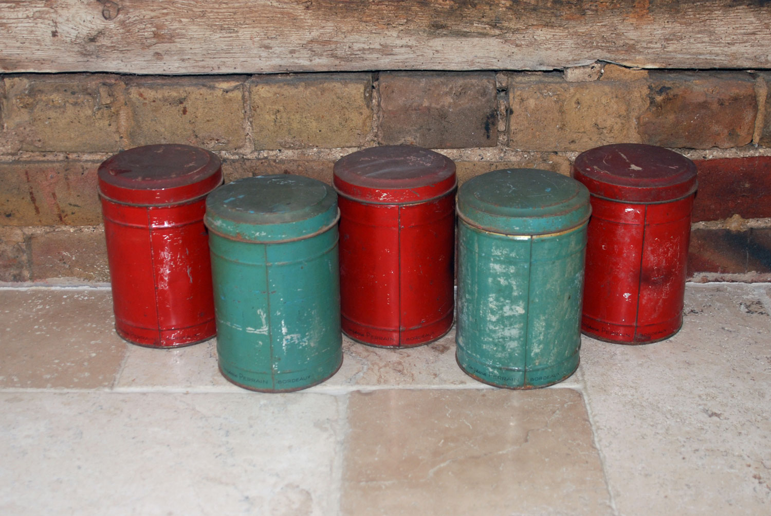antique french toleware confectioners tins toleware kitchen storage jars shabby chic rustic