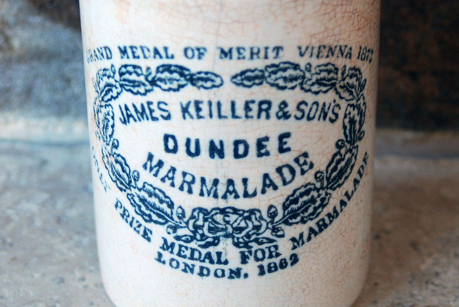 james keiller antique victorian white ironstone english advertising pot dundee marmalade chippy one 1 pound