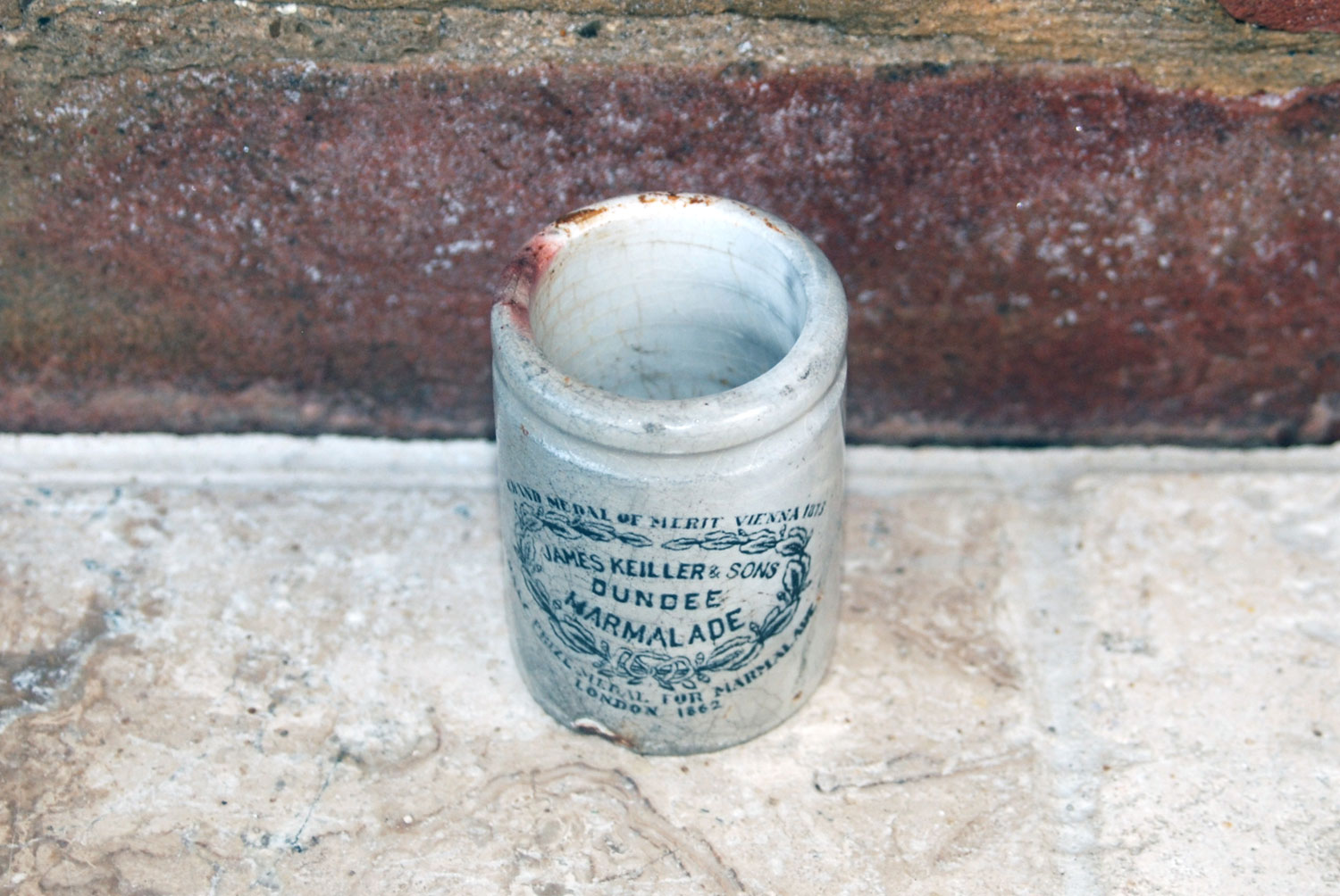 antique victorian scarce rare james keiller miniature james keiller dundee english advertising marmalade pot