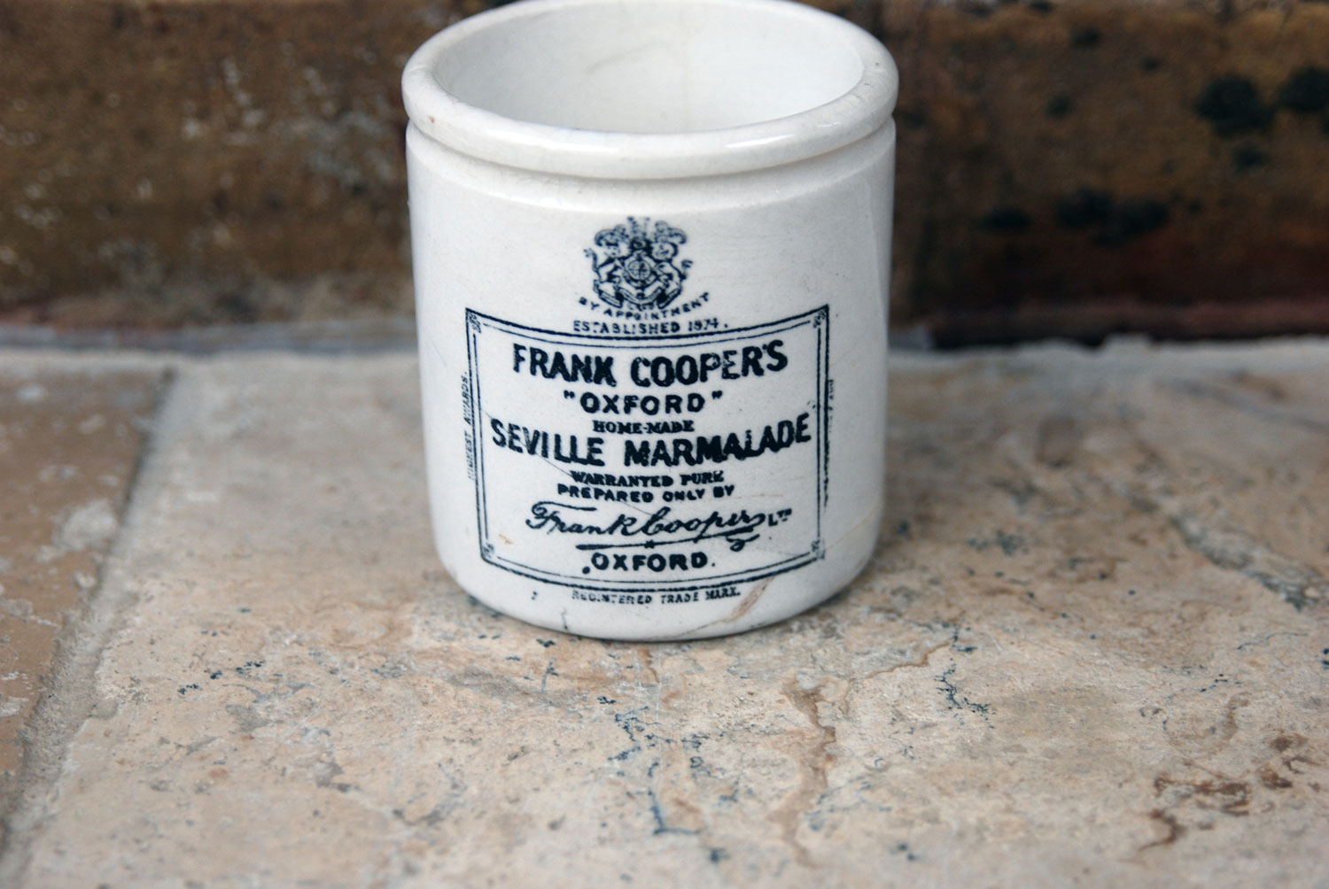 antique victorian rare mini miniature frank cooper white ironstone marmalade english advertising pot