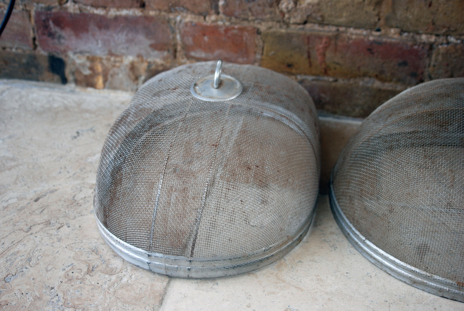 vintage 1930s antique wirex gauze wire mesh aluminium food cover