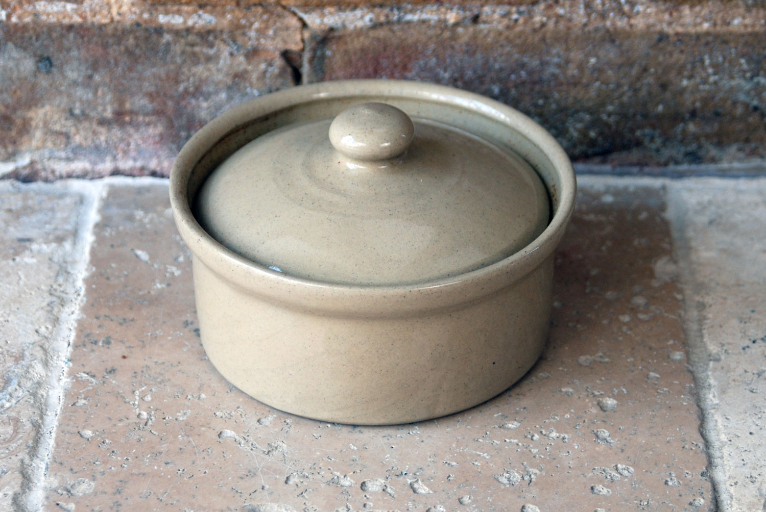 vintage 1960s pearsons chesterfield stoneware lidded butter crock dish