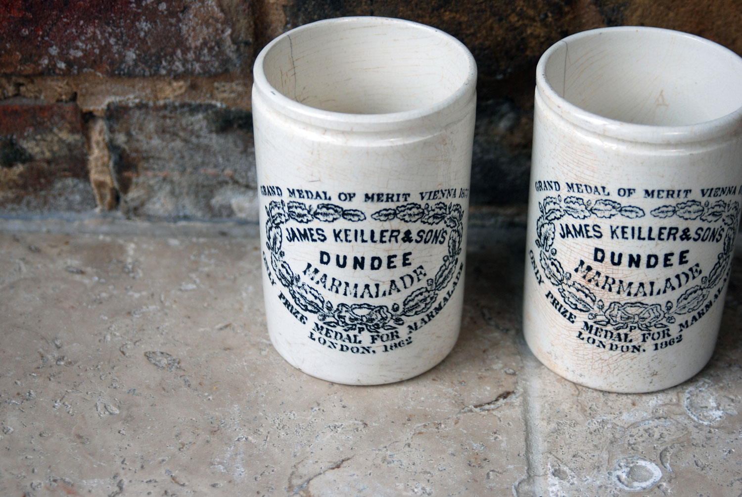 antique victorian white ironstone english advertising pot slim james keiller dundee marmalade pot