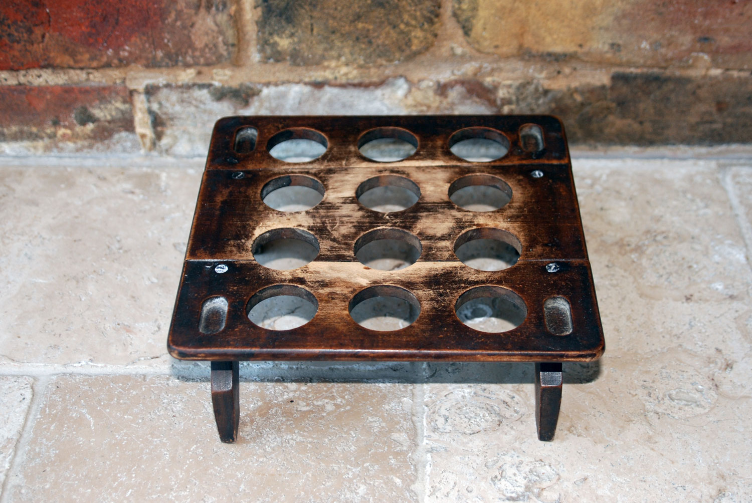 rare antique edwardian treen wooden stackable egg rack downton abbey dozen 12 eggs