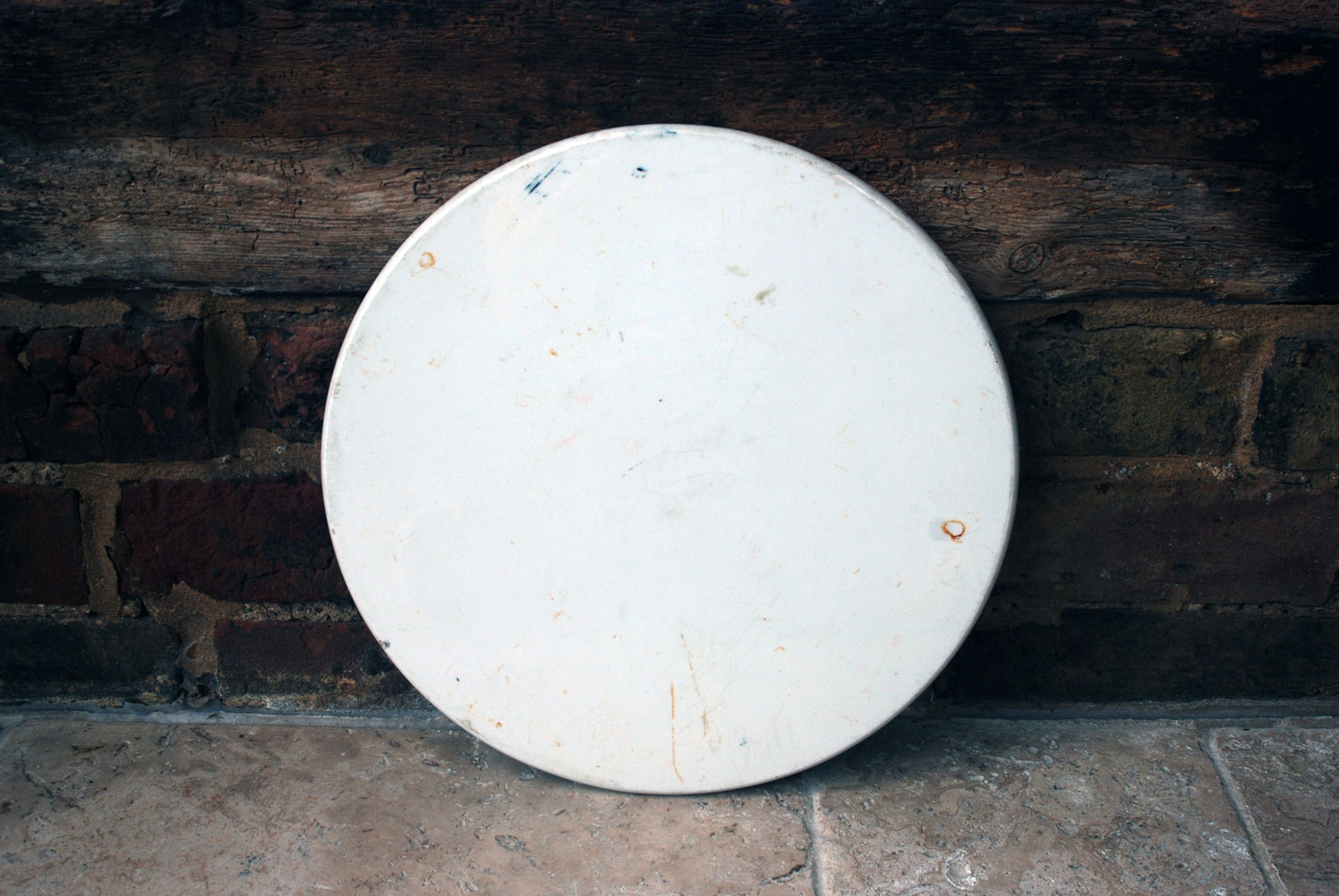 antique edwardian white ironstone large day millward scale plate