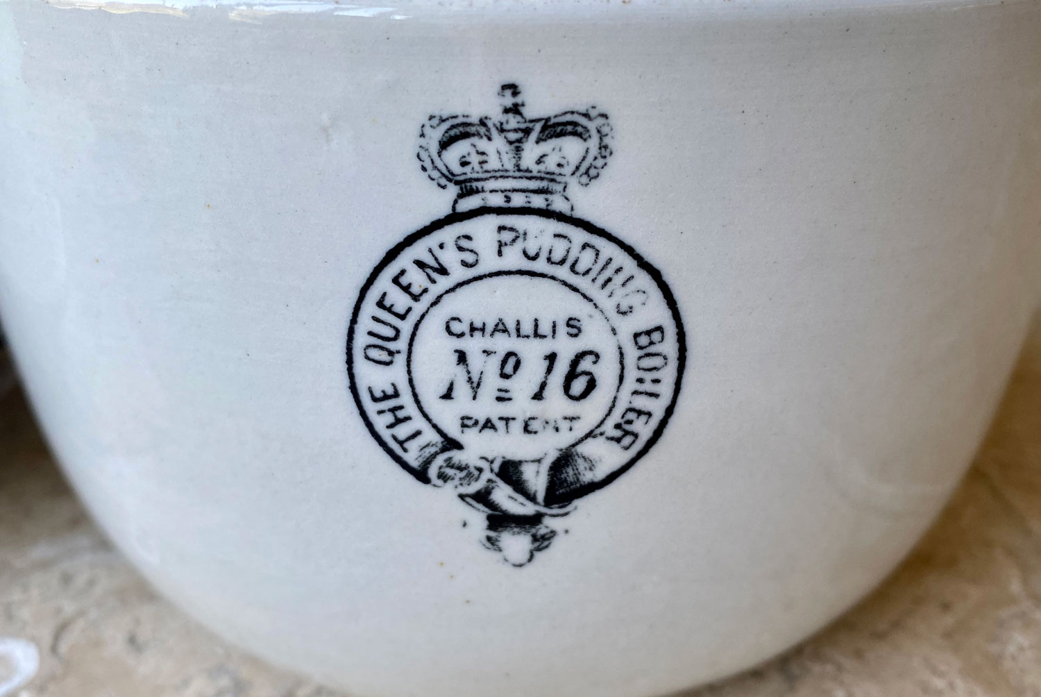 antique edwardian early version queens pudding boiler family size 16