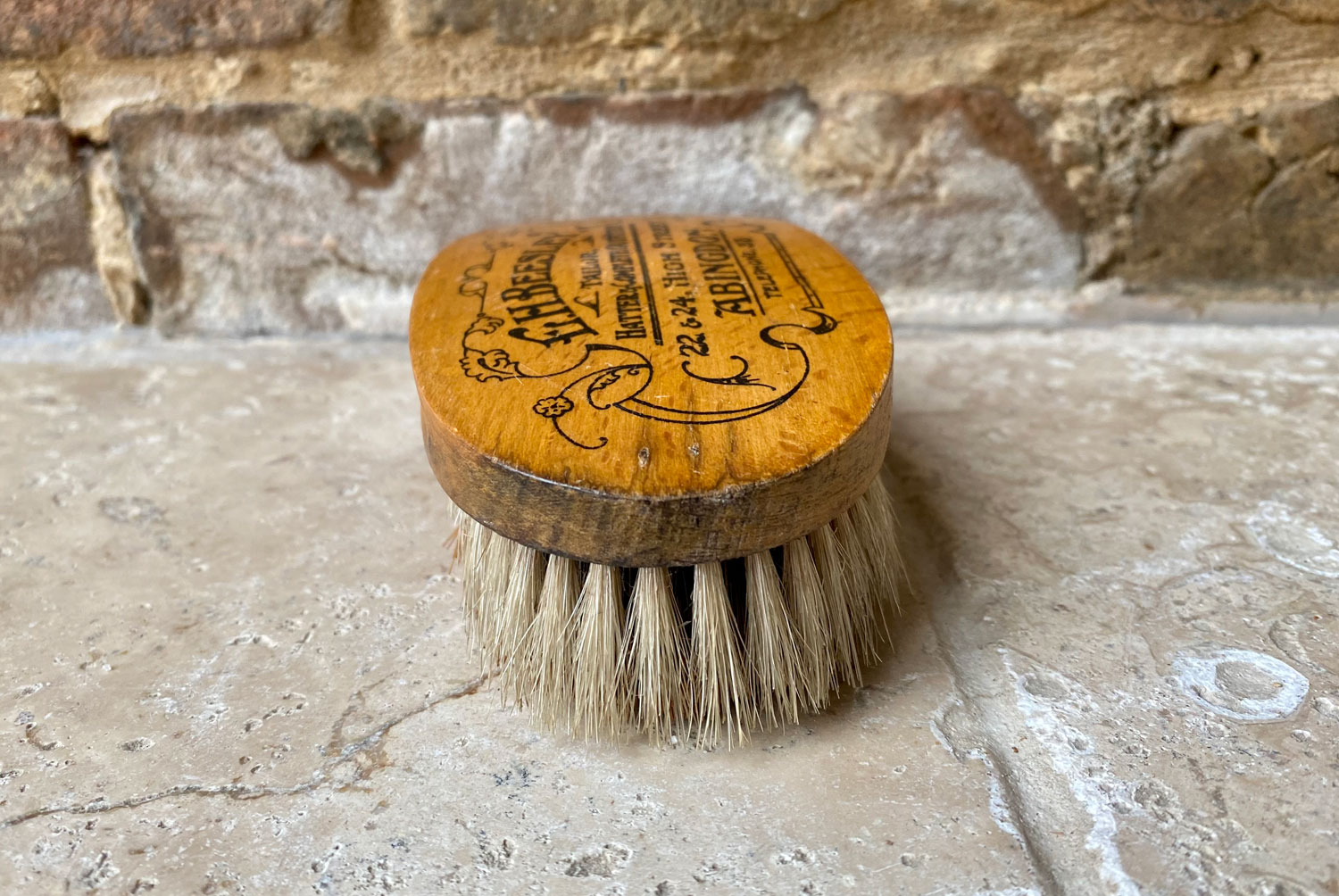 antique 1920s shop advertising beesley abingdon tailors hatters clothes brush