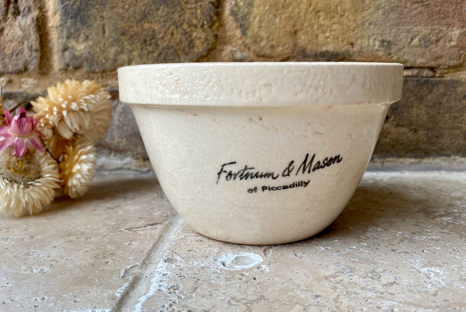 antique 1920s fortnums mason piccadilly advertising pudding bowl or basin
