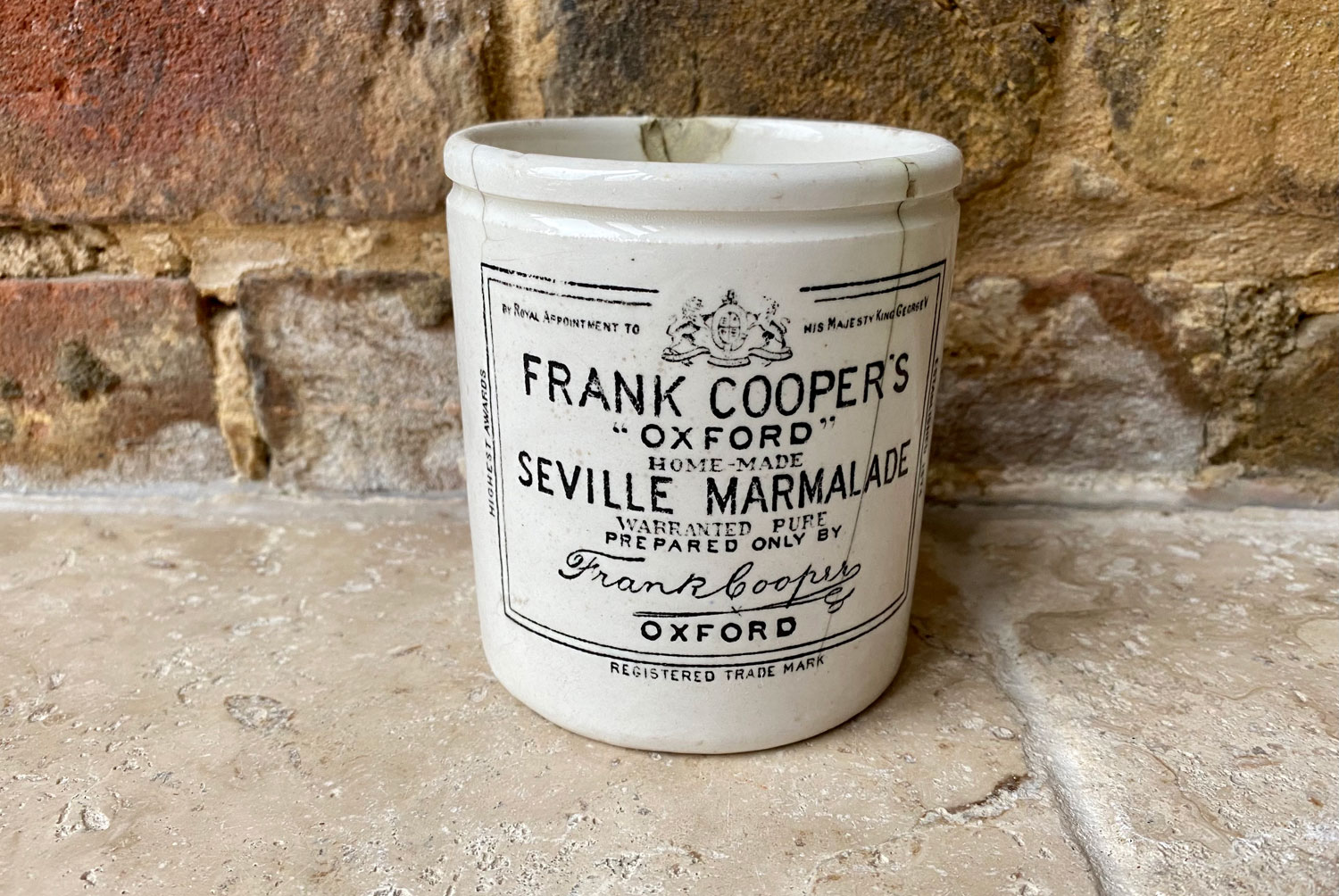 antique victorian white ironstone chippy frank cooper oxofrd english advertising marmalade pot
