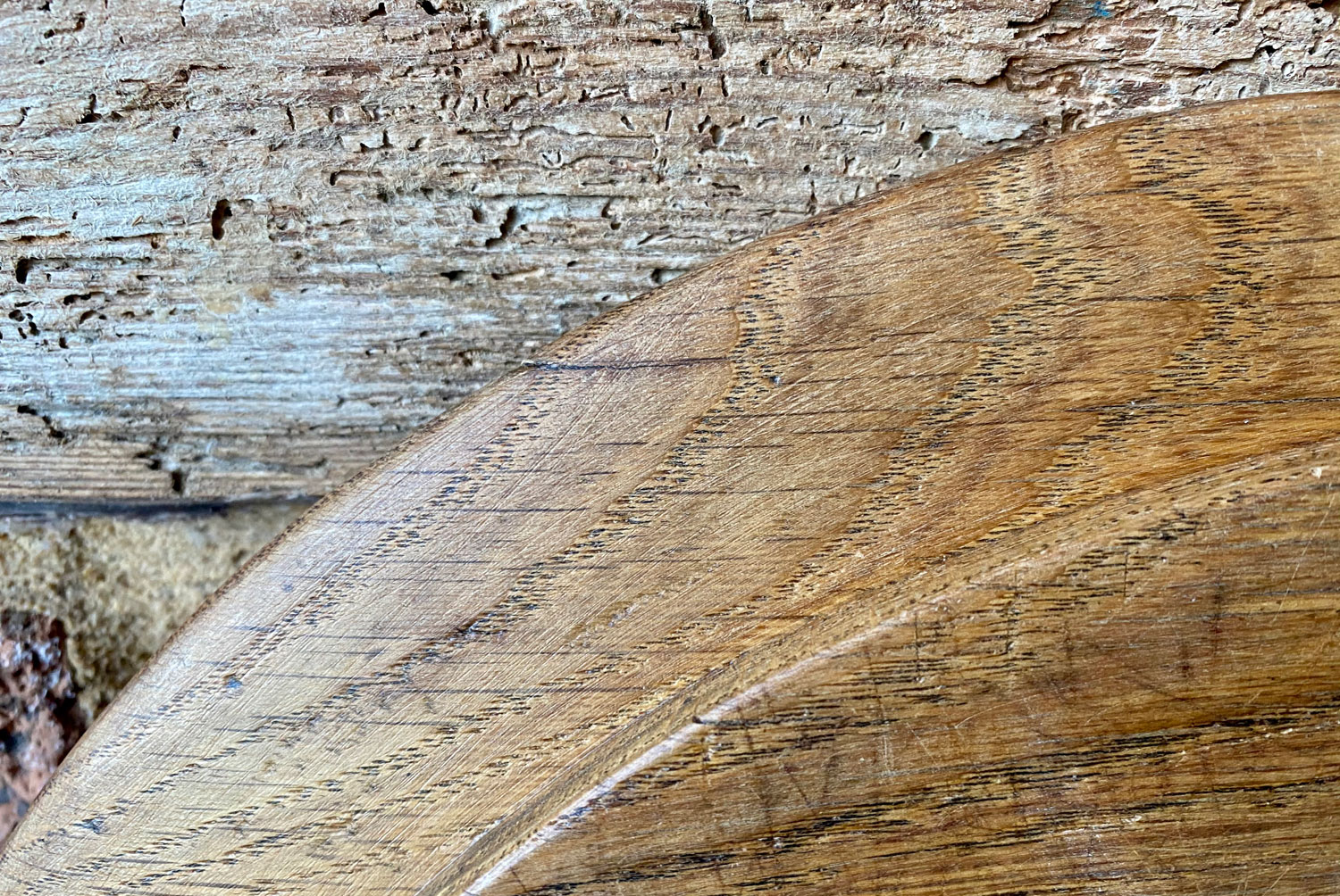 antique 1800s rare oval breadboard oak treen dutch give us this day our daily bread