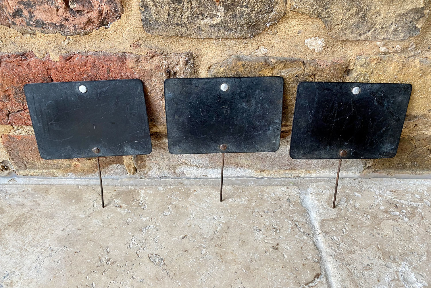 vintage early 20th century butchers shop celluloid blank grocers price tags chalk board