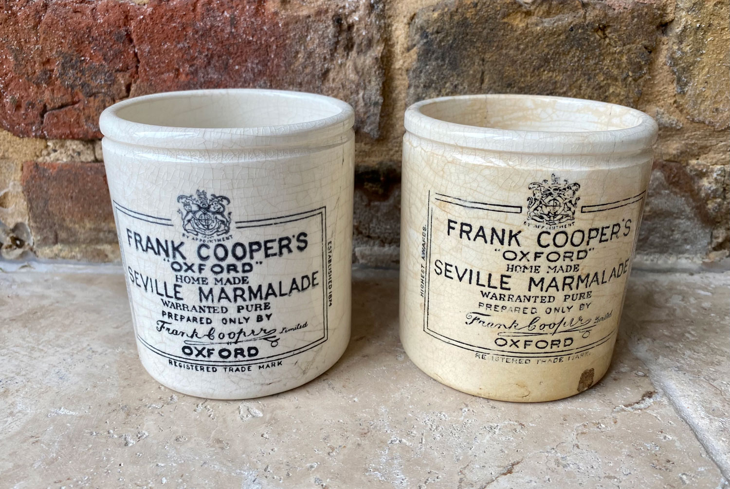 antique victorian white ironstone english advertising pot chubby frank cooper one pound pot