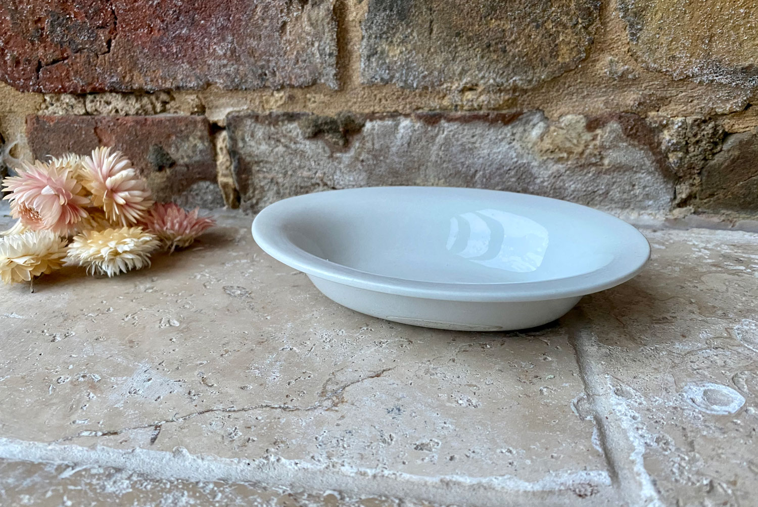 small victorian english white ironstone pie dish wood sons aerated bread company