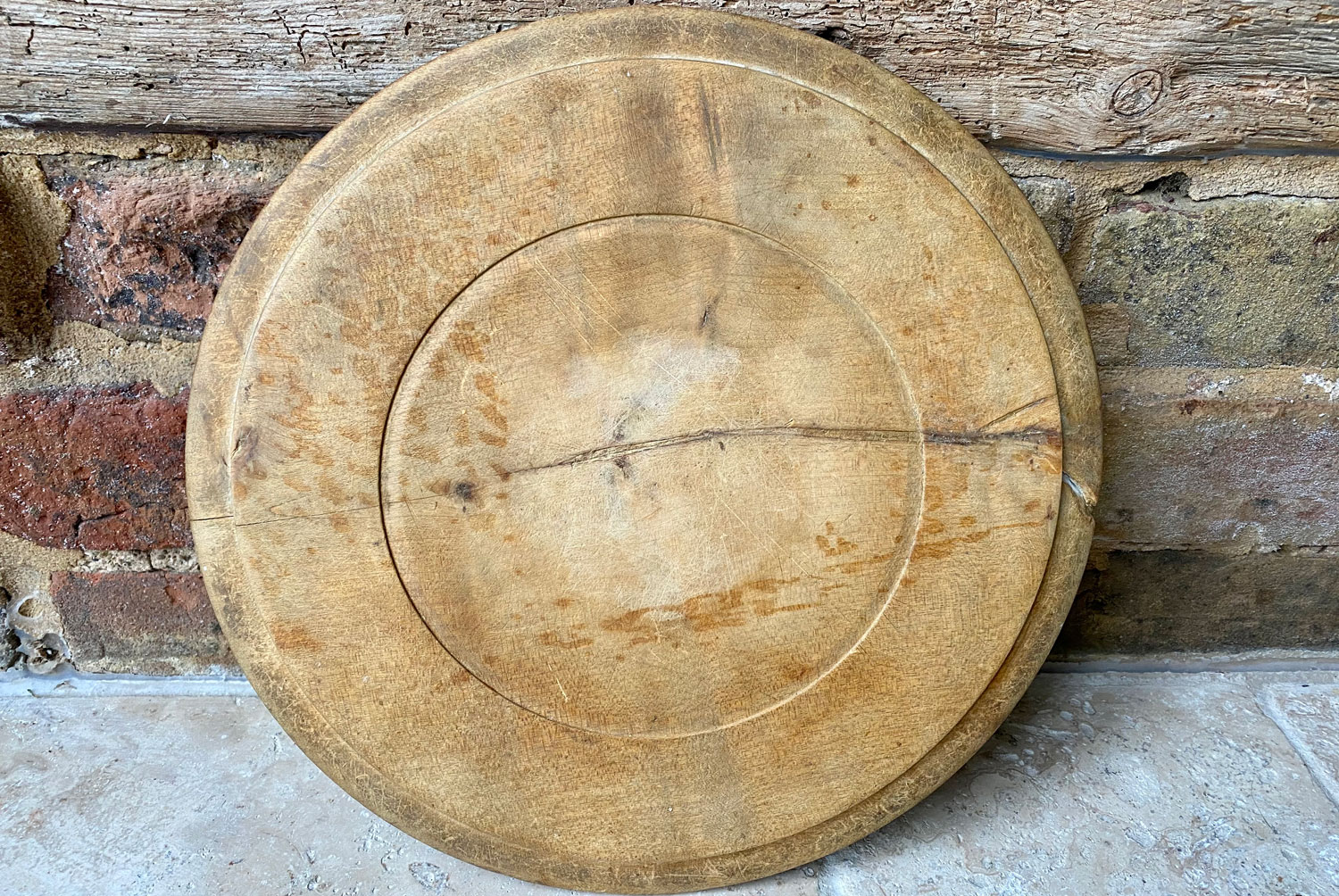 antique victorian early 20th century carved english breadboard our daily bread motto