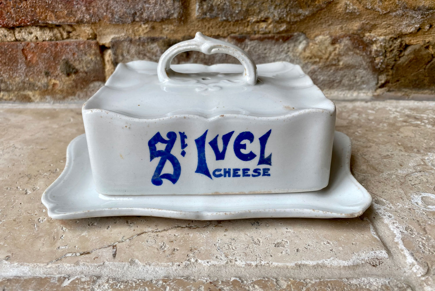 antique early 20th century edwardian white ironstone wilkinson ltd advertising st ivel cheese