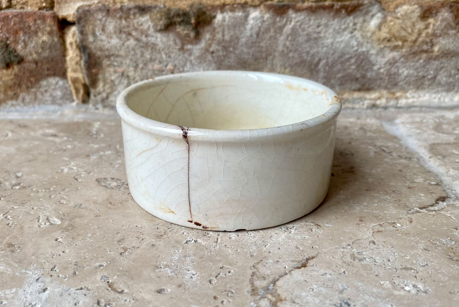 antique victorian white ironstone english advertising pot seagers potted meat ipswich