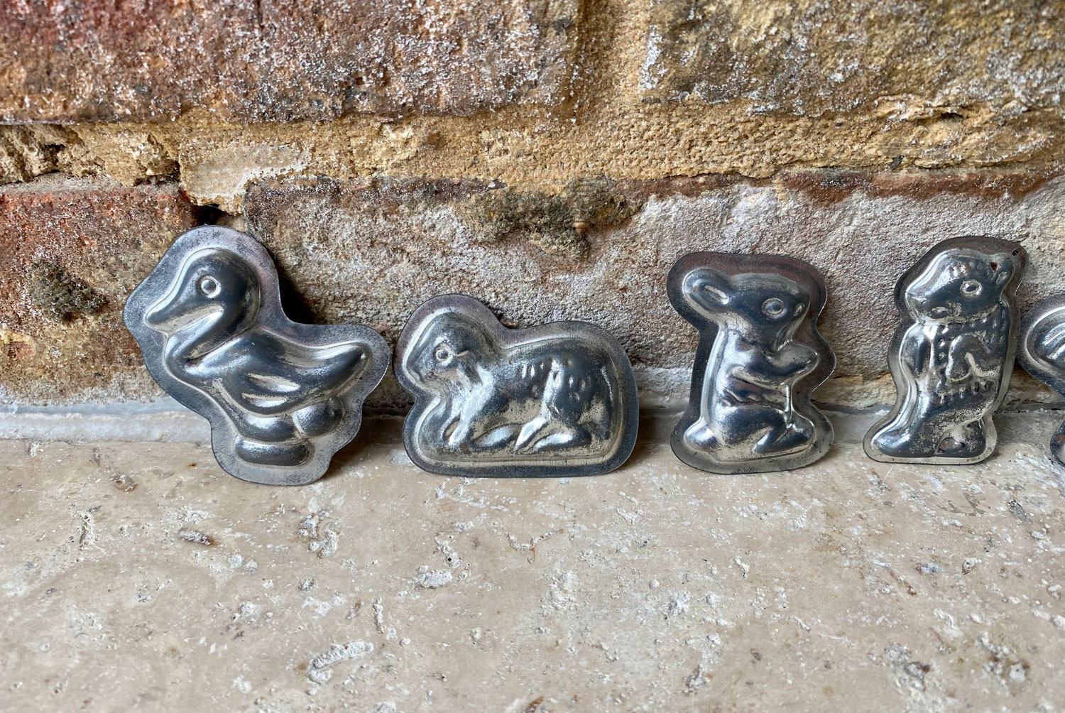 vintage french mid century animal shaped chocolate sweet moulds brocante find