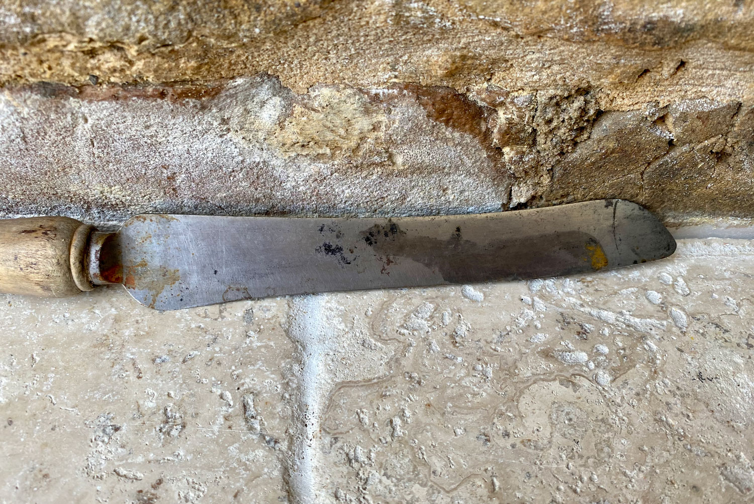 antique edwardian early 20th century carved english bread knife steel blade