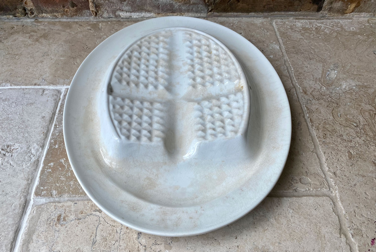 rare antique grimwades winton 1920s white ironstone hold fast carving dish platter
