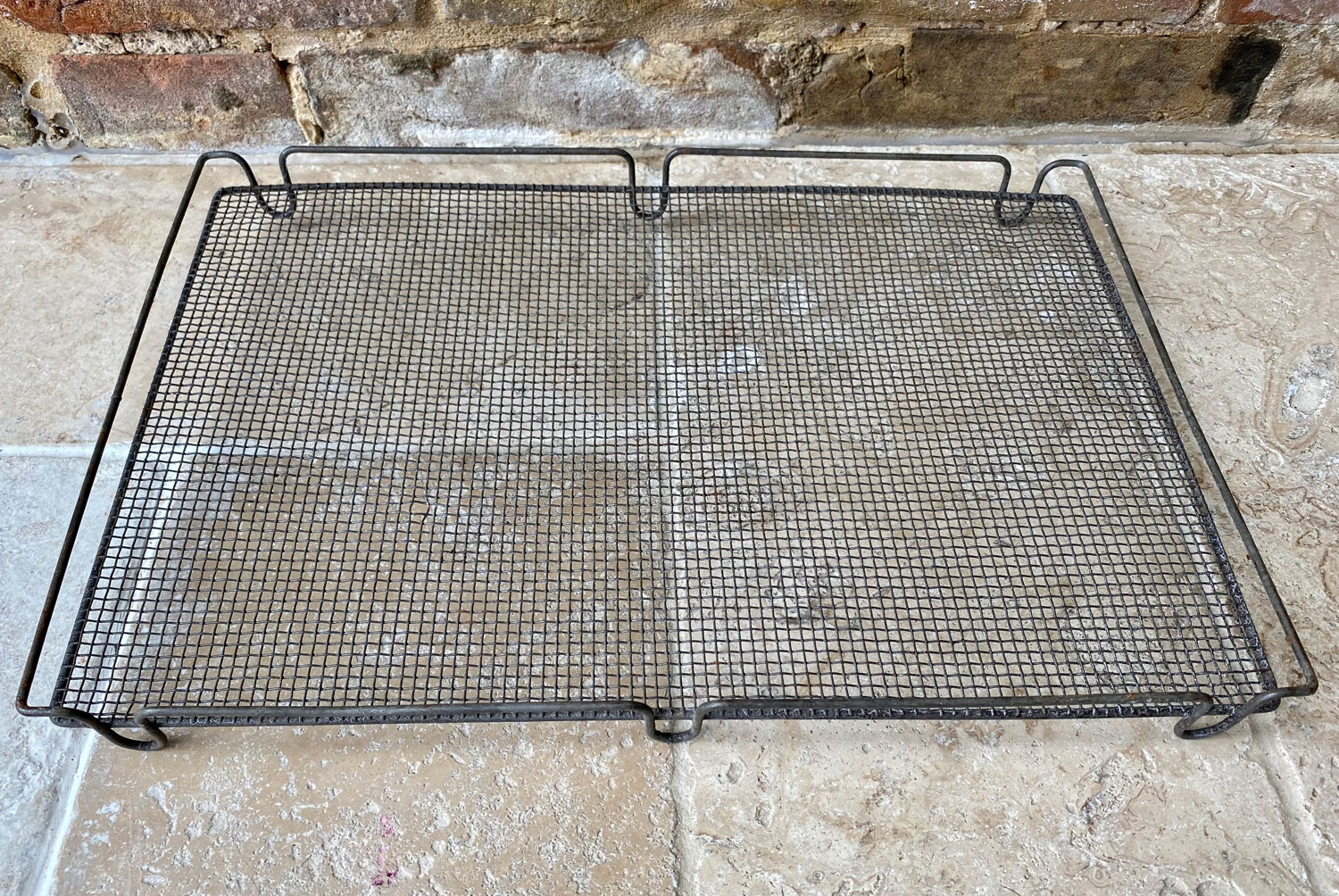 large rare antique victorian wirework cooling rack cake