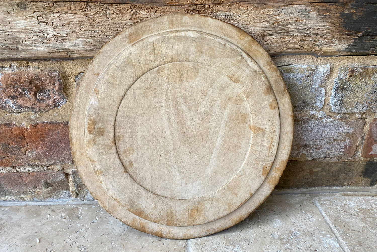 antique victorian carved english sycamore breadboard our daily bread motto treen wooden