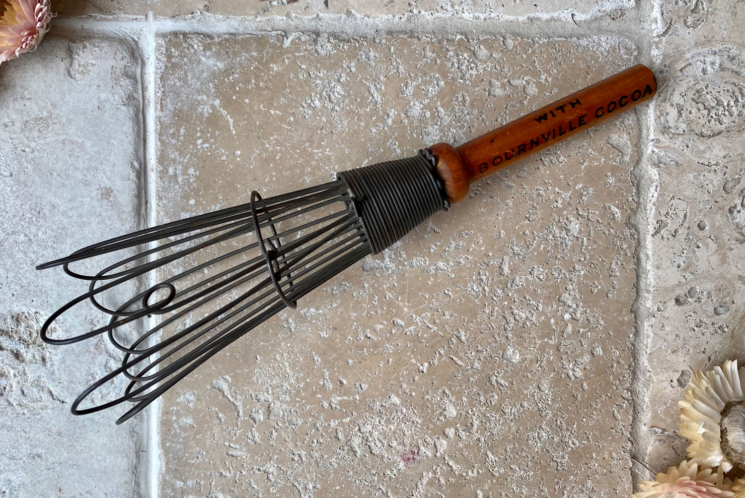 antique 1920s cadbury bournville advertising hot chocolate cocoa whisk