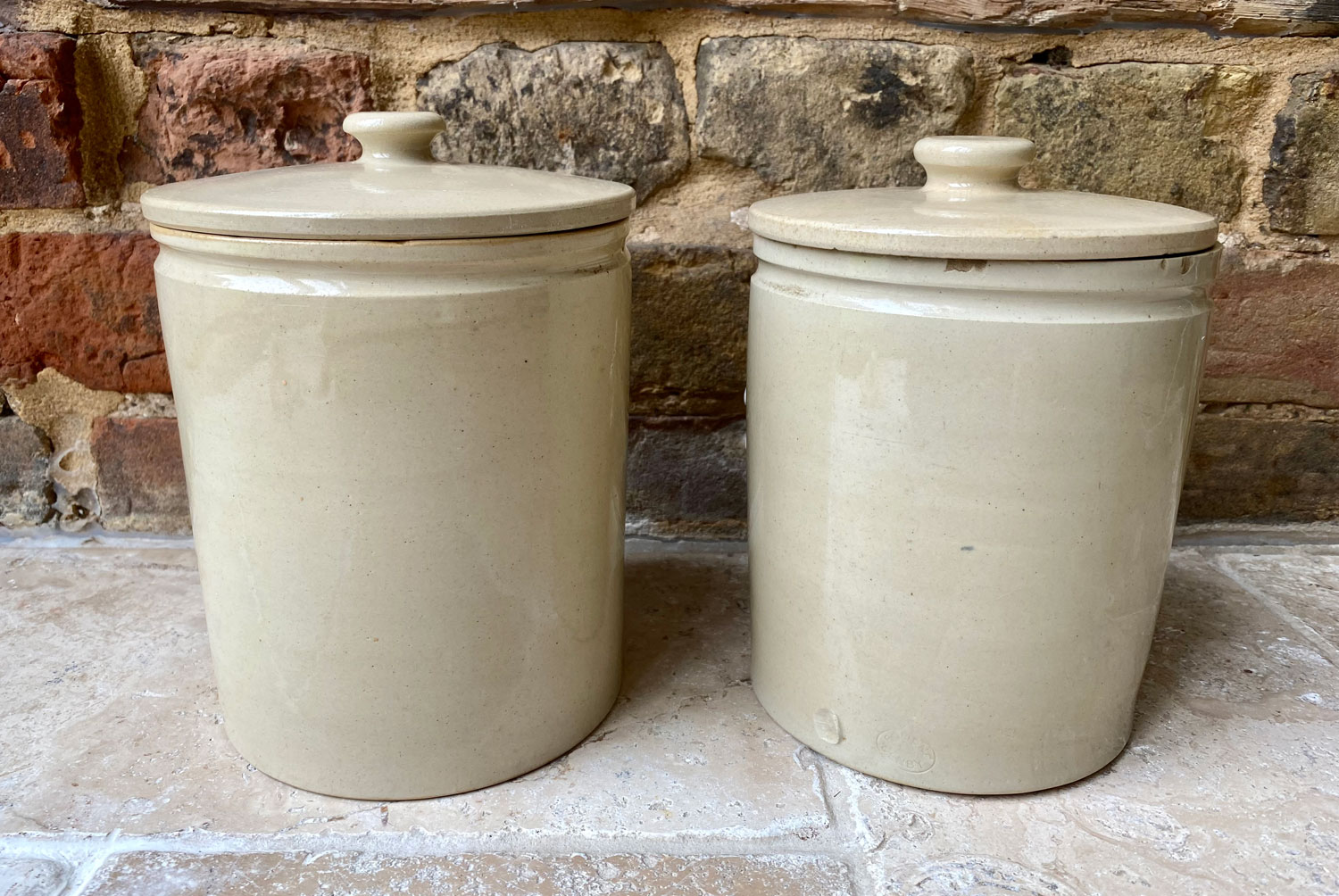 antique 1920s early 20th century bourne denby kitchen storage jar canister sago rice