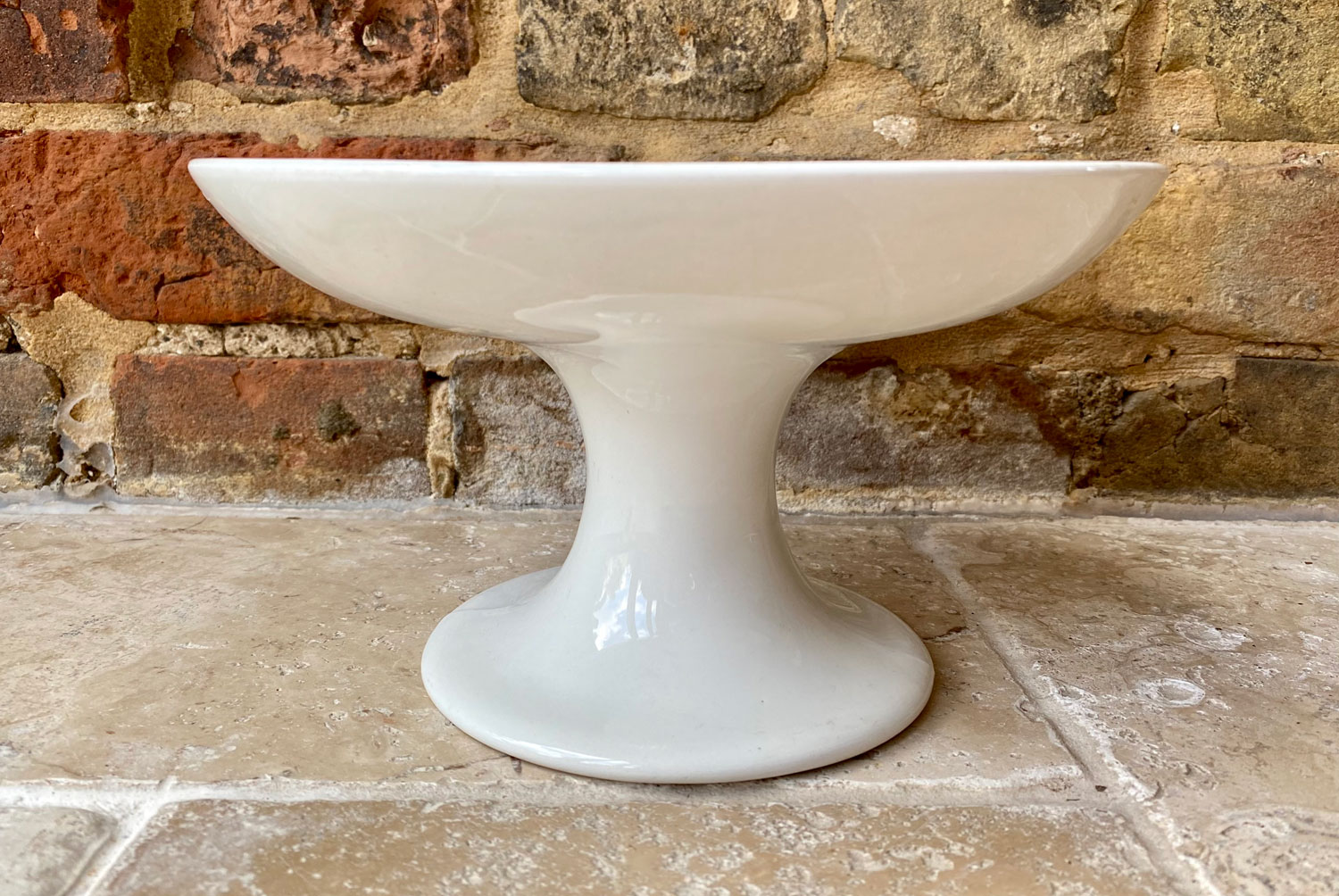 antique early 20th century white ironstone plain compote dish english jg meakin