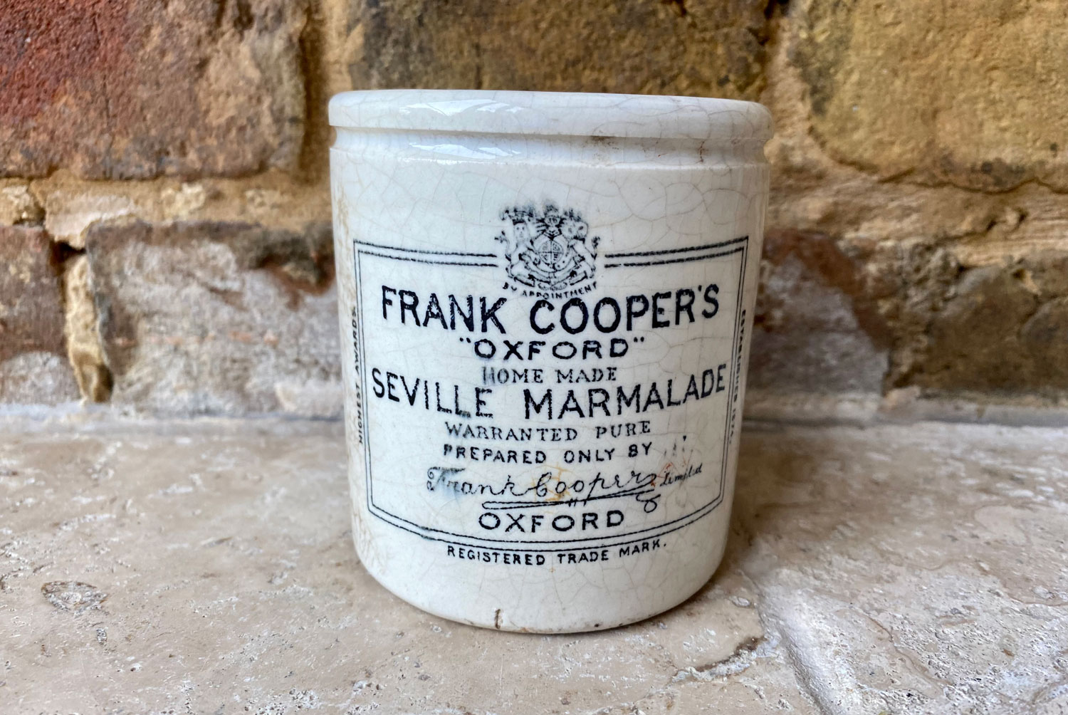 antique victorian white ironstone english advertising pot one pound chubby frank cooper oxford marmalade